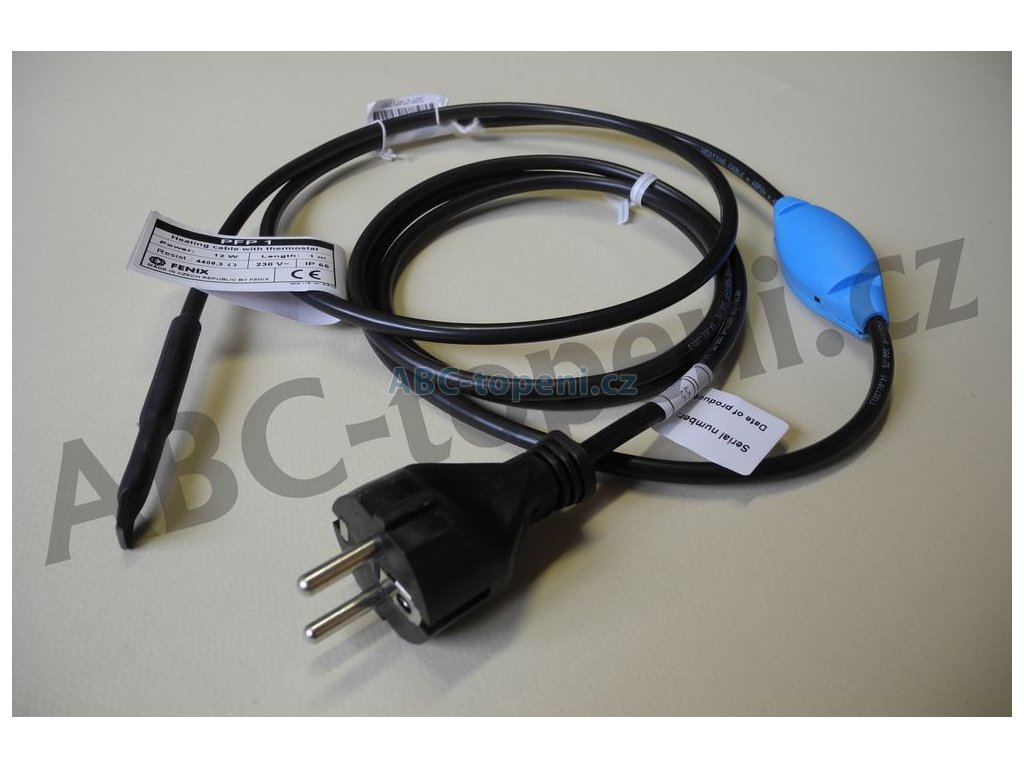 7484 fenix pfp 21m 281w topny kabel s termostatem pro ochranu potrubi