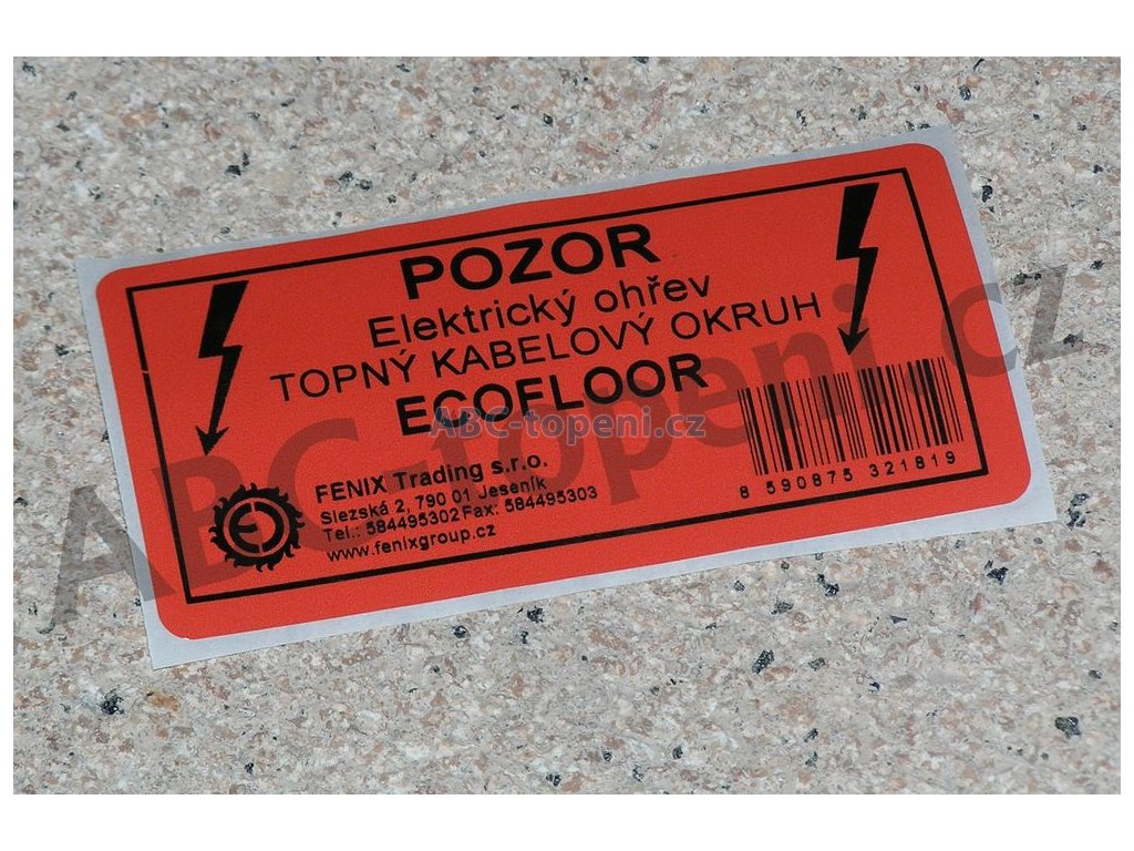 7547 fenix vystrazny stitek elektricky ohrev