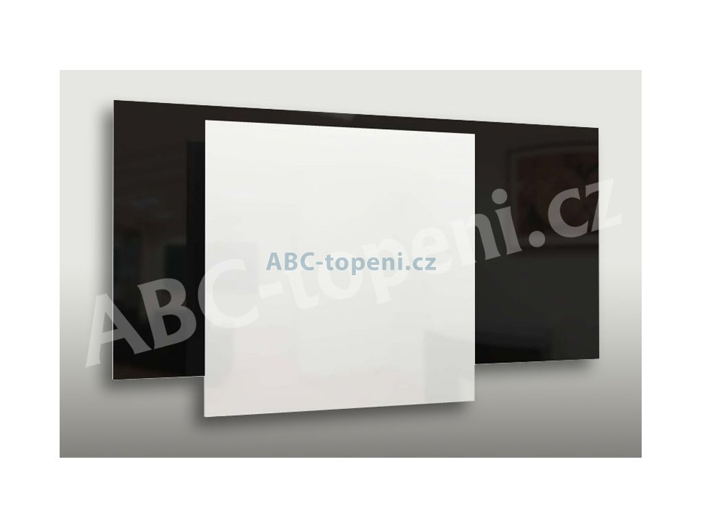 8072 fenix ecosun 600 gs white bezramovy skleneny topny panel