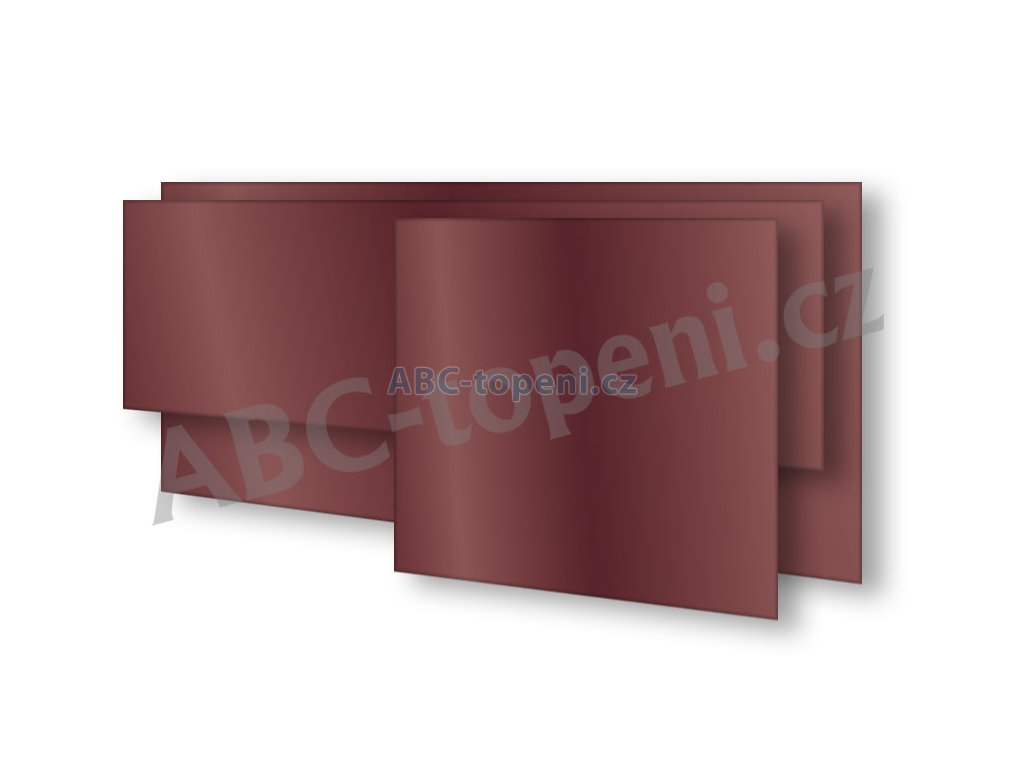 8126 fenix ecosun 600 gs wine red skleneny panel 600w vinove cervena