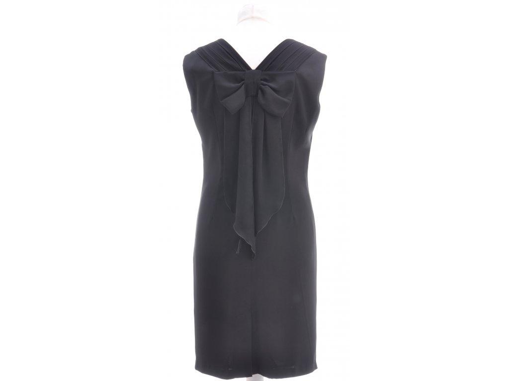 0dbff1185 Spoločenské čierne šaty s mašľou - ABITO