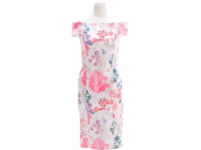 Letné šaty s odhalenými ramenami