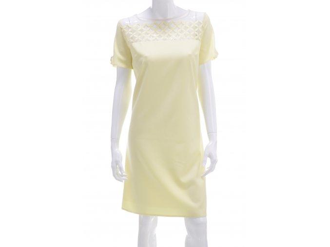 Žlté šaty so šifónovým vkladom