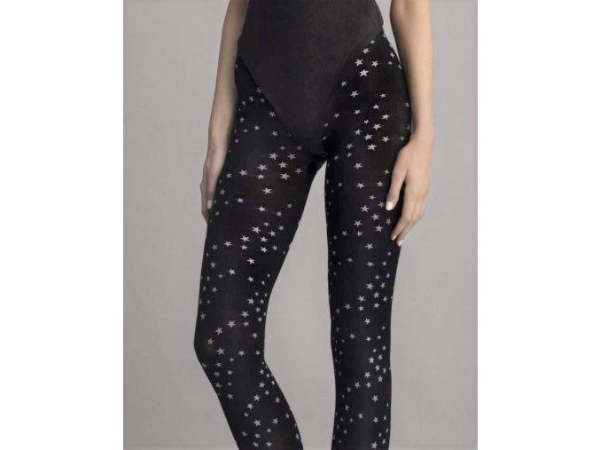 Čierne pančuchy so vzorom - hviezdičky, Star Avenue, 80 den,  86% polyamid, 14% elastan, V chladnejších dňoch určite oceníte teplejšie pančuchy v čiernej farbe. Vzorované hrubé pančuchy s bielym vzorom hviezdičiek a nepriehľadným povrchom. Pančuchy sú hrubšie, celovzorované. Originálny vzor pančúch vhodný k úpletovým šatám, pohodlné, nepriehľadné, teplé, príjemné,  na chladné dni    ,