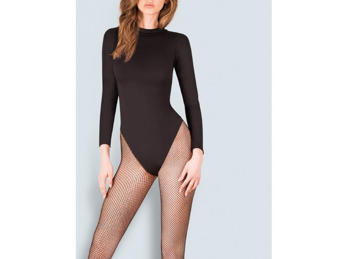 Čierne sieťované pančuchové nohavice Kabarette 151, Dámske sieťované pančuchové nohavice Kabarette 151 sú kúskomšatníka každej odvážnej, módne zameranej ženy a jedného z najpredávanejších kúskov značky Gabriella.krásne priliehajú k nohe a zdobia ju sexi vzorom. sieťované, priehľadné, tenšie