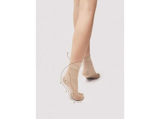 Ponožky s preventívnym masážnym účinkom chodidel 20 DEN, 80% polyamid, 20% elastan, Ponožky s profylaktickým efektom  masáže chodidiel, nesťahujúci zdravotný lem, vo farbe: black (čierna), natural (telová), tan (telová tmavá), light natural (telová stredná), grafit (šedo čierna)