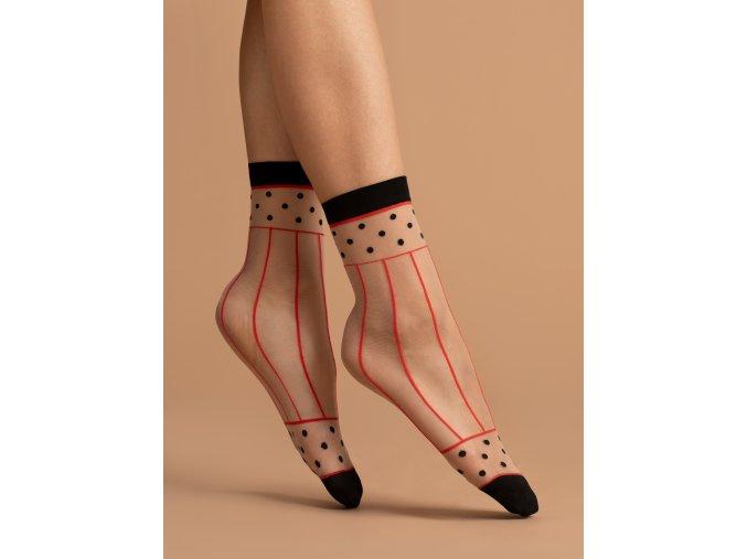 Dámske vzorované ponožky Spicy 15 Den