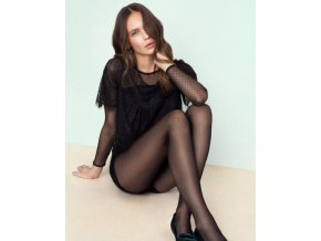 Pančuchové nohavice mriežkované - drobná mriežka. Bez zosilneného sedu a bez zosilnenej špičky. pančuchové nohavice s geometrickým vzorom,  tenké, priehľadné, moderné