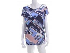 Viacfarebné tričko s geometrickým motívom