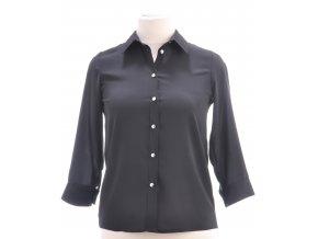 Čierna košeľová blúzka