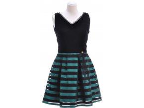 Čierne šaty so skladanou sukňou