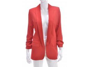 Dámske červené predĺžené trendy sako