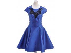 Dievčenské modré šaty