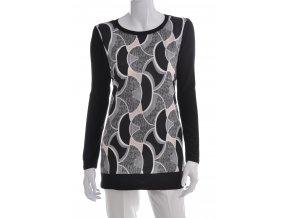 Čierne tričko s kombinovaným vzorom