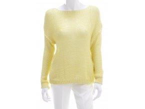 Dámsky sveter žltej farby sieťový