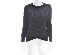 Dámsky čierny sveter - hrubší
