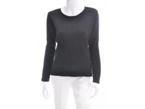 Jednoduchý dámsky čierny sveter