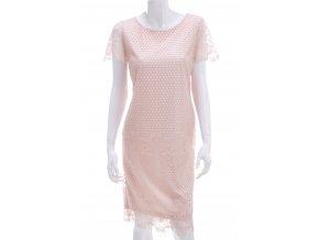 Ružové šaty s krajkou