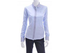 Dámska svetlo modrá košeľová blúzka