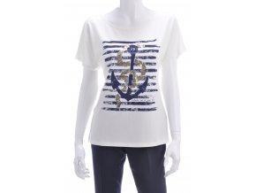 Biele tričko s námorníckym motívom