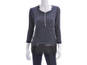 Tmavo modrý sveter vzorovaný