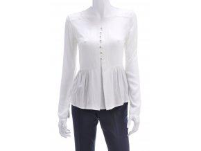 Biele tričko s gombíkmi