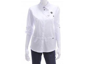 Biela košeľová blúzka s aplikáciami