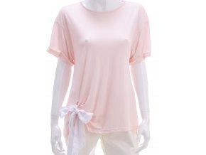 Jemne ružové tričko s viazačkou