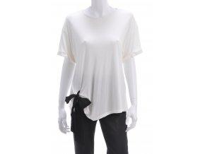 Biele tričko s viazačkou