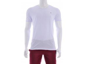 Biele pánske tričko jednofarebné