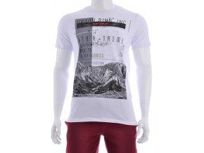Biele tričko s čiernobielym vzorom