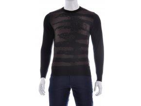 Čierny vzorovaný pulóver
