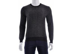 Antracitový sveter s čiernym lemom