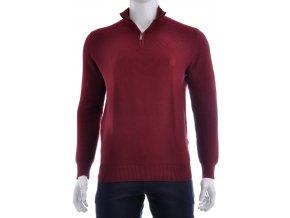 Bordový sveter so zipsom