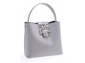 Sivá kabelka s hadím vzorom