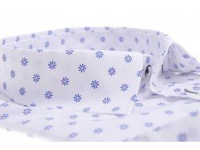 Biela košeľa s hviezdicovým vzorom