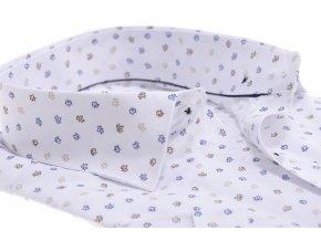 Biela košeľa s listovým vzorom