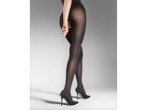 Pančuchy Ouvert 80 DEN, Exkluzívne pančuchové nohavice s rezom - otvorom v rozkroku. Hladké bez zosilnenej špičky a päty. Pančuchy sú hrubšie, matné, nepriehľadné. 86% polyamid, 14% elastan