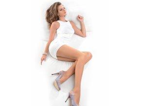 Matné pančuchové nohavice Dita 15 DEN, tenké, matné, priehľadné,,ideálne pre každodenné a oficiálnejšie situácie, Minimalizácia lesku materiálu,  s prídavkom elastických vlákien LYCRA ,  zosilnené v nohavičkovej časti, nohy vyzerajú prirodzené, štíhle, predlžené