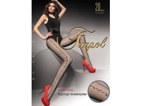 pančuchové nohavice s efektným bočným vzorom, priehľadtné, tenšie, elastický pás