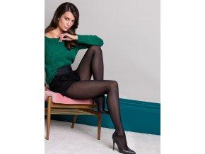 Exkluzívne vzorované pančuchové nohavice Grace 3D, 40 DEN, Model Grace z rady Fashion Collection zdobený efektným geometrickým vzorom, Pančuchové nohavice sú vyrobené z mikrovlákna v pokročilej 3D technológii, neviditeľné výstuže v prstoch a bavlnený klin s plochým švom. 85% polyamid, 15% elastan, vzorované, hrubšie, farba - nero (čierna)