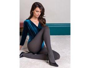 Teplé pančuchové nohavice s rebrovým vzorom JENNY 60 DEN, nepriehľadné, hrubšie, vzorované, Exkluzívne vzorované pančuchové nohavice z microfibry. Pančuchy sú hrubšie s rebrovým vzorom. Bez zosilneného sedu. 85% polyamid, 15% elastan
