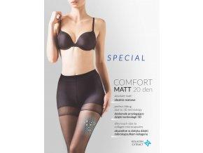 Matné pančuchové nohavice Special Comfort Matt, 20 DEN,Matné, transparentné pančuchové nohavice, vyrobené z podielom 3D priadze, tenké, jednofarebné, priehľadné, vo farbe: neutro (telová), beige (telová tmavá), nero (čierna)