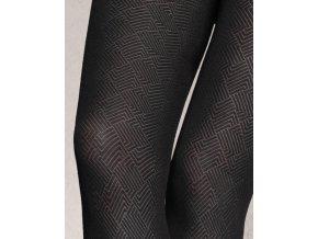 Vzorované pančuchové nohavice Loretta 126, 50 DEN, vzorované hrubšie, pravidelným vzorom - kosoštvorce. Matné, bez vyznačeného sedu s malým klinom