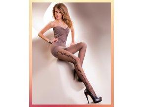 Pančuchové nohavice s kvetinovým vzorom Fabien 20 DEN.Pančuchy v čiernej farbe s čiernym vzorom, v telovej farbe majú vzor v telovej farbe, vzorované, priehľadné, tenšie, 85% polyamid, 15% elastan