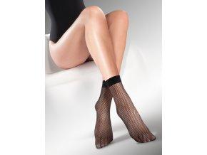Sieťované ponožky Kabarette, jemné mriežky. tenké, sieťované, vzdušné, univerzálna veľkosť one size, bez zosilnenej špičky, so zdravotnou gumou.