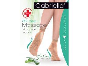 Masážne ponožky Medica Massage 20 DEN, zjemnené extraktom ALOE VERA, ponožky s preventívnym účinkom na masáž chodidiel, ponožky so zdravotnou gumou