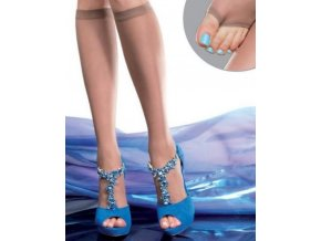 Dámske podkolienky Evena 20 Den, Bezpalcové podkolienky,vhodné to topánok s otvotenou špičkou. 88% polyamid, 12% elastan, light natural (telová stredná)