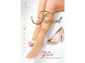 Dámske bezpalcové ponožky Vivi 8 Den, Ponožky sa vyrábajú v jednej univerzálnej veľkosti - one size, Vyrábané vo farbe: visone (telová svetlá), bezpalcové, tenké, vzdušné