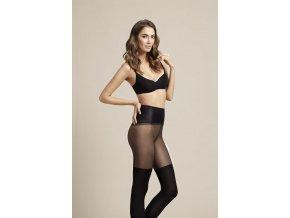Dámske pančuchové nohavice Fit Spinner body care Fiore 40 DEN,  pohodlné, hrubšie, príjemné. Sťahujúce, zoštíhľujúce pančuchové nohavice korigujúce bruško, spevňujúce postavu, dostupné v čiernej farbe.